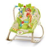 Fisher Price Sedátko od miminka po batole do 18kg Rainforest CBF52