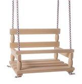 Teddies Houpačka dřevo přírodní 38x30cm