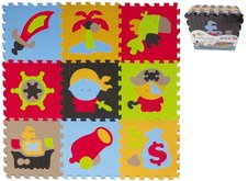 Castorland Pěnové puzzle pirát 9ks 32x32x1cm