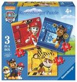 Puzzle Ravensburger Tlapková Patrola: Rubble, Marshall & Chase; 25/36/49 dílků