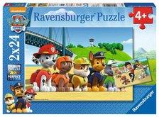 Puzzle Ravensburger Tlapková Patrola: Stateční psi 2x24 dílků