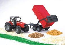 Bruder 2045 - Traktor Massey Ferguson 7480 s valníkem