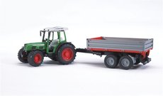 BRUDER 2104 Traktor FENDT 209S s přívěsem