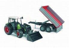 Bruder 2112 Traktor CLAAS Nectis + čelní nakladač + sklápěcí vůz