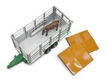 Bruder 2227 Přívěs na hospodářská zvířata + kráva