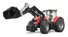 Bruder 3047 Traktor Massey Ferguson 7624 + čelní nakladač