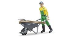 Bruder 62610 zemědělec s kolečkem a příslušenstvím