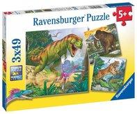 Ravensburger puzzle Dinosauři a čas 3x49 dílků