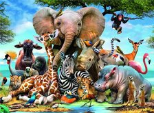 Ravensburger Puzzle Afričtí přátelé African Friends 300 dílků