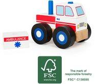 Legler Dřevěné skládací auto ambulance
