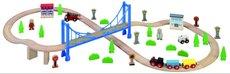Maxim Vláčkodráha s visutým mostem 57ks