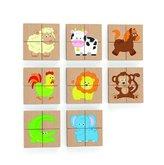 Viga Dřevěné magnetické puzzle zvířátka