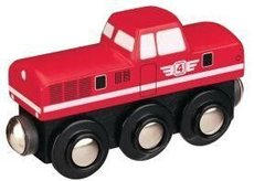 Dieselová lokomotiva -červená Maxim