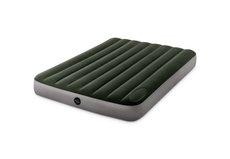 Intex 64762 Nafukovací postel Dura-Beam Downy Airbed 137x191cm s integrovanou nožní pumpou