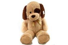 Lamps Plyš pes béžový 90 cm