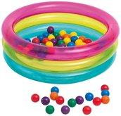 Intex 48674 Nafukovací bazén 86x25 cm + 50 míčků 6,5 cm