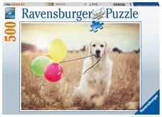 RAVENSBURGER Labrador s balónky 500 dílků