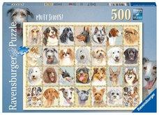 RAVENSBURGER Portréty psů 500 dílků