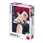 DINO Pop Art: Tajemná žena 1000 dílků